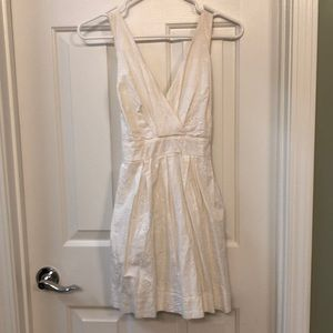 Sweet White Dress with Appliqué Detail